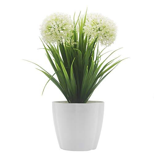 Xichen® Künstliche Topfpflanze, Hortensie,25cm weiß