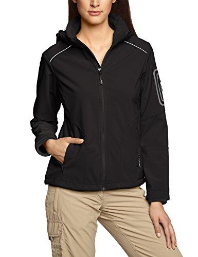 CMP Damen Softshelljacke Jacke, Schwarz(Nero), 52 EU (Herstellergröße: 58)