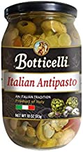 Botticelli Italian Antipasto. Gourmet Mix of Sweet Peppers, Artichokes, Olives, Mushrooms, Onions and Capers with Delicious Spices. Imported from Italy (18oz/510g)