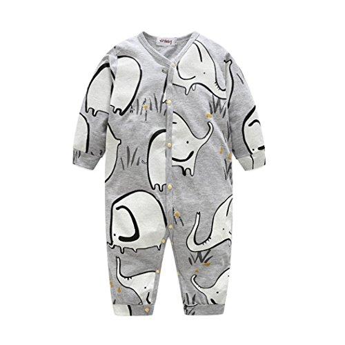 squarex squarex Baby Mädchen (0-24 Monate) Schlafanzugoverteil, Grau