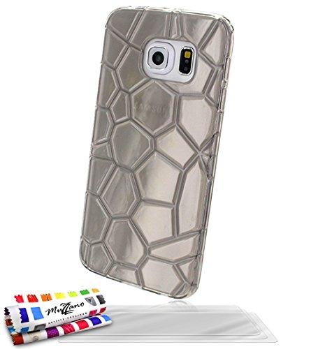 Muzzano Original Artic Flexibles Case met 3 ultra heldere screen protector voor Samsung Galaxy S6 Edge - zilver