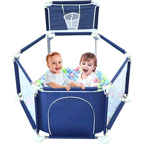 LUGEUK Cerca Lavable portátil de la Bola de bebé, Cerca de la Tela Transpirable con el Soporte de Baloncesto, la Bola del océano Libre, Adecuado para recién Nacidos, Interiores y al Aire Libre.