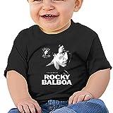 QUZtww Camiseta bebé Rocky Balboa Camiseta de algodón de manga corta para bebé niño y niña para niños pequeños