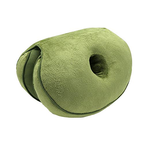 HNXCBH Multifunctional Dual Comfort Seat Cushion Memory Foam Of Hip Lift Seat Cushion Beautiful Butt Latex Seat Cushion Comfy For Home Seat Cushion (Color : Green)
