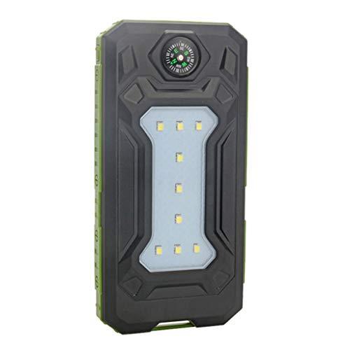 Kcnsieou - Batería externa portátil de 500000 mAh con doble USB, resistente al agua, para todos los teléfonos móviles, baterías no incluidas