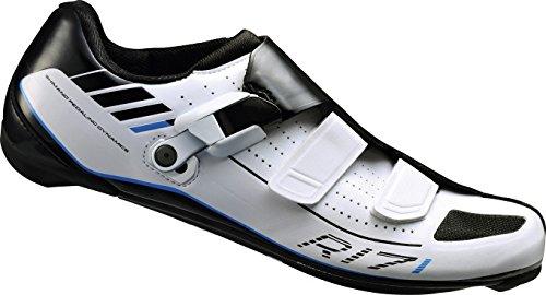 SHIMANO SH-R171W ESHR171C410WE Chaussures de vélo de Course pour Adulte Taille 41 Coupe Large Système SPD-SL Fermeture Velcro/à cliquet Multicolore