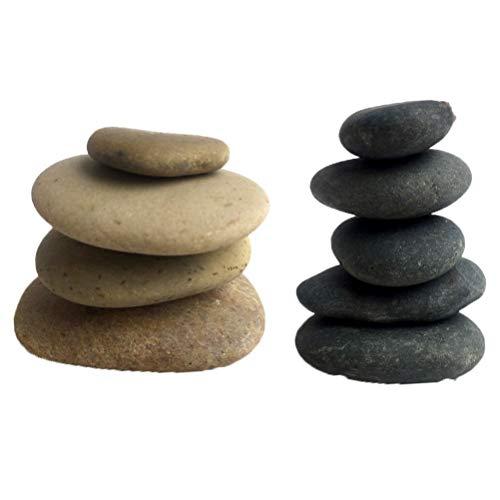 SUPVOX 10 piezas que pintan rocas y piedras alrededor del río dibujo piedras creativas pintadas a mano diy piedras de pulido