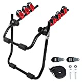 WOLTU 3 Bike Bicycle Hatchback Car Mount Rack Stand Carrier Cycle Bike Carrier