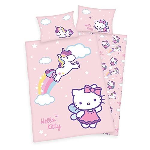 Hello Kitty Baby - Juego de funda nórdica y funda de almohada (40 x 60 cm y 100 x 135 cm), diseño de Hello Kitty