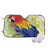 PecoStar Parrot Parrot - Parasol Plegable Rectangular para Ventana de Coche, Parabrisas, Parasol, Parasol para Autos, SUV y Camiones, Protector Solar