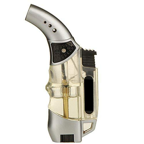 zhart Jet Straight Flame Butane Spray Torch Lighter Comes Without Gas(Multicolor,Plastic)