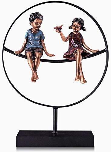 ZfgG - Estatua decorativa para decorar el salón, mueble de TV, vino, gabinete, crafts (color: Trumpet)