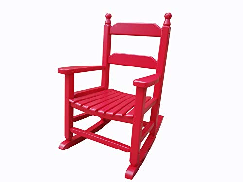 rockingrocker  K081RD Durable Red Child Wooden Rocking Chair/Porch Rocker  Indoor or Outdoor  Suitable for 37 Years Old
