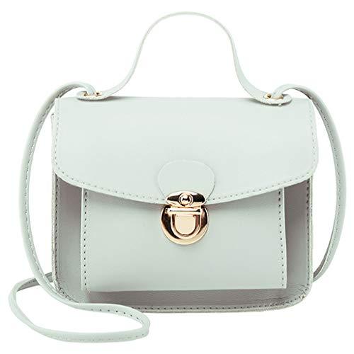 COZOCO Frauen Mode Schultertaschen kleine Rucksack vielseitige Geldbörse Handy Messenger Bag Handytasche(Grau,)