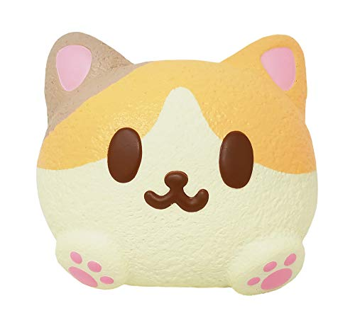 ibloom Kitty Pan Cat Slow Rising Cute Jumbo Squishy Toy (Amy, Peach Scented, 3 Inch) [Kawaii Squishies for Party Favors, Stress Balls, Gift Box, Birthday Gifts for Kids, Girls, Boys, Adults]