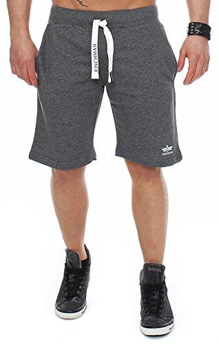 Finchman 93D5 Herren Cotton Sweat Short Kurze Hose Bermuda Dunkelgrau M