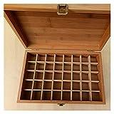 HUIHUI caojiaxiaopu Caja de Aceite Esencial de bambú con 40 Compartimentos. Bricolaje Caja de Almacenamiento de Madera Protectora for la decoración del Arte. (Color : Brown 27X18X8 cm)
