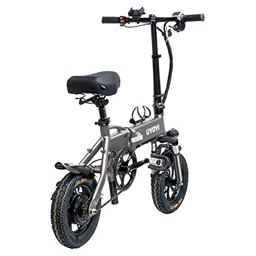 qwert Bicicleta Eléctrica Plegable,3-Cambio De Marcha De Velocidad Power Assist City Ebike,Mini Bicicleta con Frenos De Disco Duales,Adecuado para Adultos Y Adolescentes,48v,350W