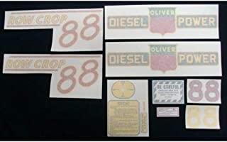 Tractor Decal Set, Oliver 88 Row Crop Diesel, Red, Vinyl