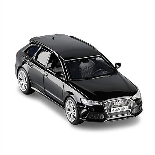 1:36 para Audi RS6 Wagon Simulation Alloy Car Door Open Metal Car Model Modelo De Juguete para Niños Boy Regalos Modelo De Auto (Color : Black)