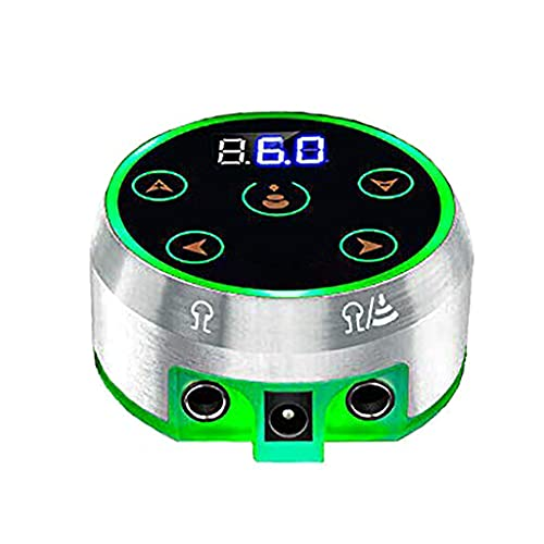 BANGNA Fuente de alimentación Digital Profesional para Tatuajes, Suministros de Tatuaje Mini LCD actualizados