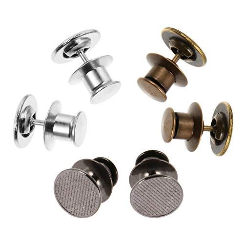 HEALLILY 6 Pins de Botón Vaqueros sin Coser Botón Instantáneo Botones Desmontables para Pantalones Botones de Repuesto Botones de Tachuela Ajustable Pins de Botón de Mezclilla Extensor