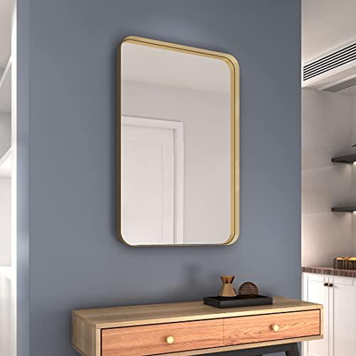 NXHOME Rectangle Metal Frame Wall Mirror - 24 x 36 Inch...