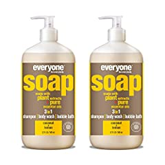 Contains 2 - 32 Fl Oz bottles Creamy coconut is blended with the fresh citrus scent of lemon pure essential oil in this skin-nourishing soap that works great as a body wash, shampoo, and bubble bath Made with gentle coconut cleansers, organic plant e...