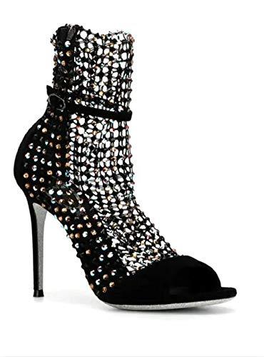 Rene Caovilla Womens Shoes High Heeled Sandals Black (37)