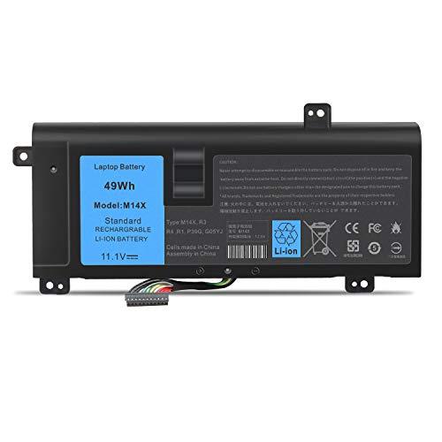ASUNCELL Batería del Ordenador portátil para DELL Alienware 14 A14 M14X R3 M14X R4 14D-1528 ALW14D-1528 ALW14D-4528 ALW14D-1828 ALW14D-4828 G05YJ 0G05YJ Y3PN0 8X70T