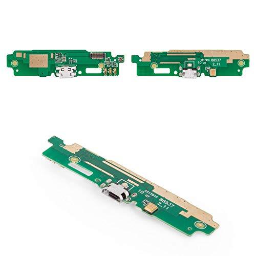 Flex Cable Reparación Piezas de Repuesto Compatible con Xiaomi Redmi 3S, (micrófono, conector de carga, con componentes, placa de carga, 2016031)