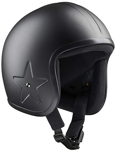 Band-It Motorrad-Helm, Schwarz, Sky 3, Stern, Bandit Open Face, Helm, personalisierbar, nicht zugelassen (XS)