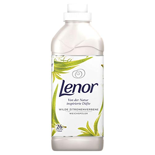 Lenor Weichspüler Flauschige Wäsche, Inspired by Nature, Wilde Zitronenverbene, 26 Waschladungen (780 ml)