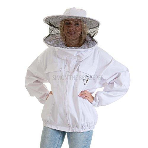Buzz werkkleding imkers bijenjas ronde hoed - kinderen groot