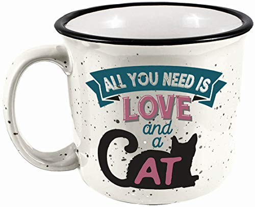 SPOONTIQUES 21514 CAT CAMPER MUG
