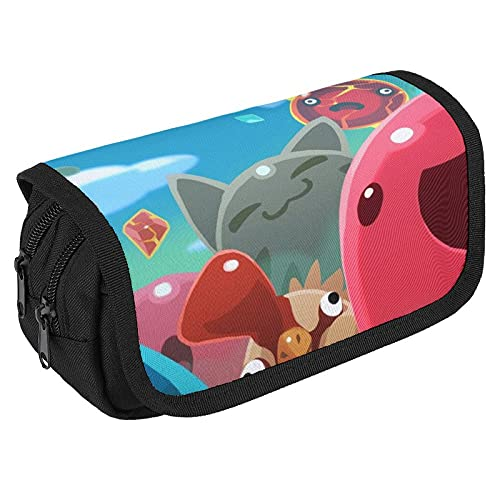 SLI-me Ran-Cher Large Capacity Pencil Case, Durable Double Zippers Pencil Cases, Stationery Bag Cosmetic Bag with Compartments for Girls Boys and Adults