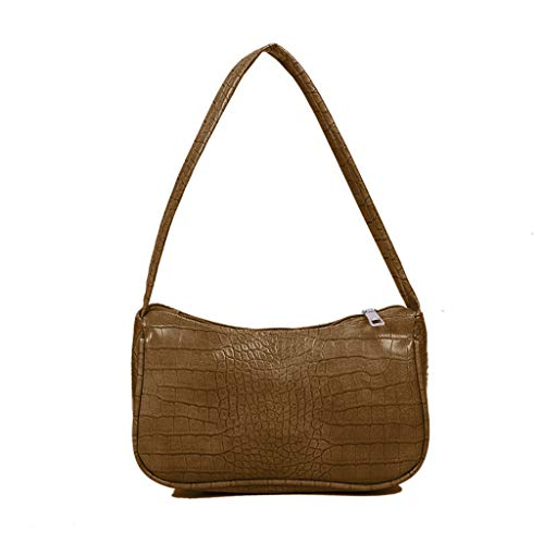 XINGYUE Bolso de hombro para mujer, diseño de cocodrilo de las axilas de las mujeres bolso de cuero de la PU de diseño vintage de las señoras pequeñas bolsas de hombro de las mujeres bolso
