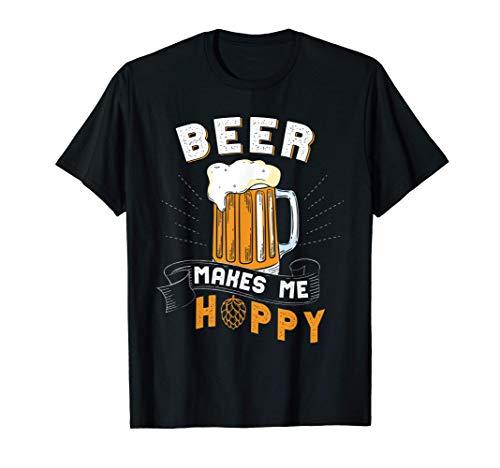 Beer makes me hoppy   Bier   Hopfen   Maßkrug T-Shirt