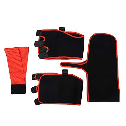CHICIRIS Hüftgurt, Klettverschluss Flexibler roter Schlankheitsgürtel mit doppelter Druckbeaufschlagung, Hüftheben zur Körperformung(L/XL)