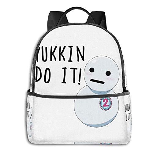 IUBBKI Zaino laterale nero Casual Daypacks Yukkin Do It! Student School Bag School Cycling Leisure Travel Camping Outdoor Backpack