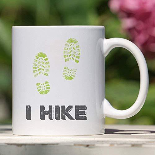 N\A Senderismo Taza de café Divertida Regalo de Excursionista Diseño de impresión de Bota Regalo para el Entusiasta del Senderismo Amante de la Naturaleza Buscador de Aventuras