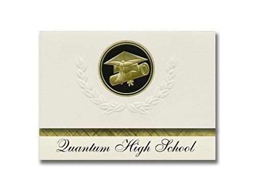 Signature Announcements Quantum High School (Boynton Beach, FL), Abschluss-Ankündigung, Presidential Style, Elite Paket mit 25 Kappen und Diplom-Siegel.