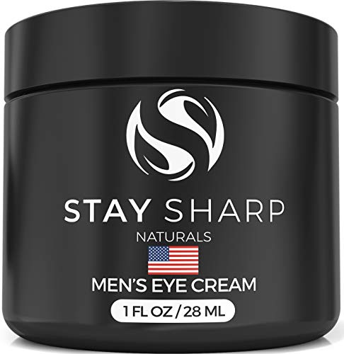 Mens Eye Cream for Dark Circles - Anti Aging Wrinkle Cream for Men - Reduces Bags Wrinkles Fine Lines and Skin Puffiness - Moisturizing Mens Under Eye Cream with Aloe Vera and Shea Butter