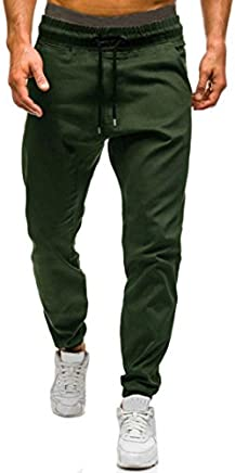 Hot Sale!Clearance,Todaies Men Autumn Winter Casual Tether Elastic design Pants Sport Legging 4 Colors (XL, Army Green)