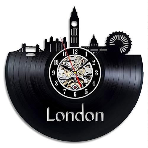 TIANZly Residencia del Artista Diseño de Pared de Reloj de Vinilo Decorativo Urbano
