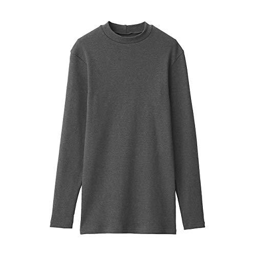 無印良品 綿とウールで真冬もあったかハイネック長袖Tシャツ M チャコールグレー 4550182377361