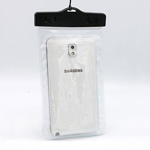 USUN Coque étanche Sac Underwater Coque Sac Dry Pouch pour téléphone Portable, iPhone et Samsung Transparent