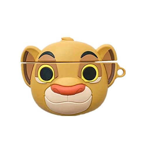 KIAGO Lustige Und 3D Cartoon Lion Design Shell, Für Airpods 2/1silikon Stoßfesten Schützende Hautabdeckung, wasserdichte Schutzhülle Mit Schlüsselanhänger