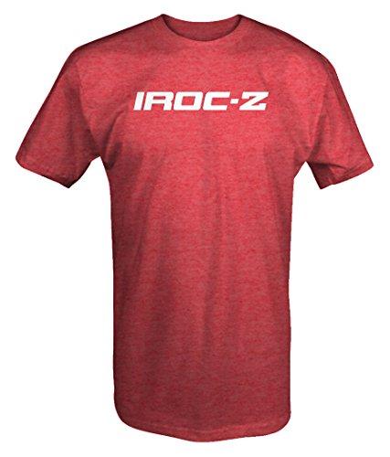 M22 Garage Shirt IROC-Z Camaro Emblem T Shirt - Large Heather Red