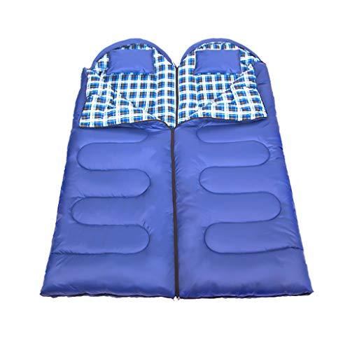 CATRP-Sac de couchage Adulte en Plein Air Double Protection Contre Le Froid Hiver Portable Intérieur Épaissir Camping, 2 Couleurs, 4 Sortes Poids (Color : Navy Blue, Size : 4.6kg)